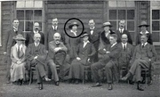 Photo of management committee featuring Agnes Borthwick.